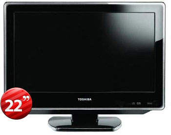 "Toshiba 22SLDT3 22"" Multi-System LCD TV with Region Free PAL NTSC DVD Player"