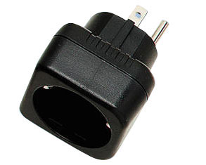 Grounded Euro (Shucko) to Grounded USA/Canada/Mexico Plug Adapter - WMFV13