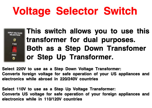 watt step up and down voltage transformer regulator world can work as a step down transformer or step up transformer