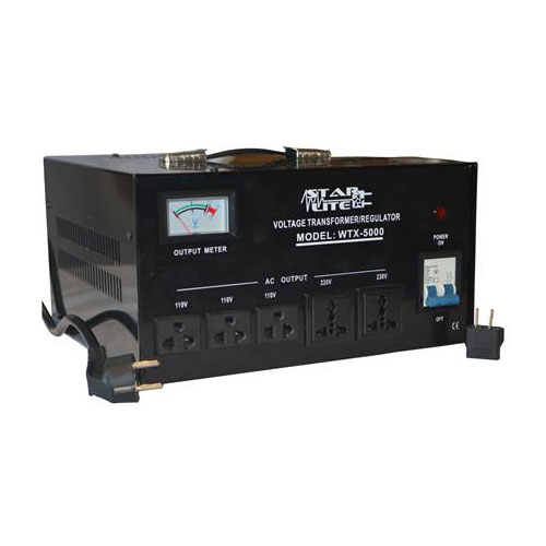 240V Countries with American 110V Equipment VCT VOD 5000 Heavy Duty 5000 Watt Step Down Voltage Transformer for Use in AC 220V CE Certified