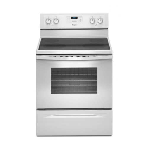 Whirlpool 3WFE510S0AW Electric Self Cleaning Smoothtop Range Oven