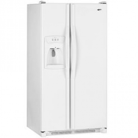 Amana AS2626GEKW 26 Cu ft.  Side By Side Refrigerator - 220 Volt 50 Hz -To Use Outside North America.