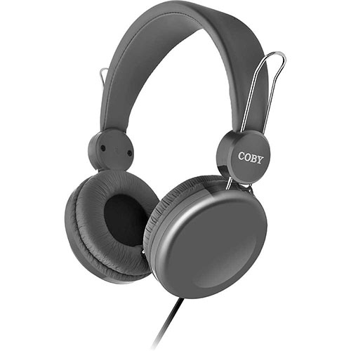 coby cvh 802 bass boost stereo headphones with built in microphone world import. Black Bedroom Furniture Sets. Home Design Ideas