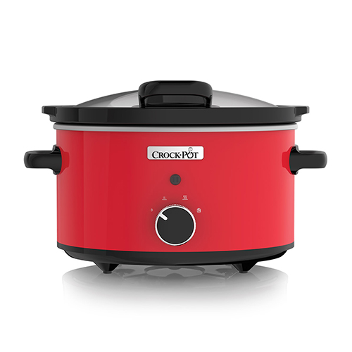 CrockPot CSC037 220-240 Volt 50 Hz Red 3.5 Liter Hinge Lid Slow Cooker