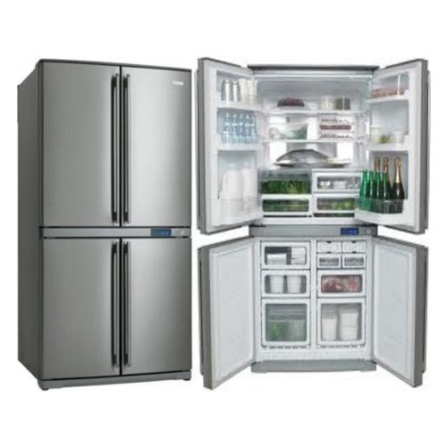 Frigidaire FQE6307SAE 22.1 Cu Ft 220 Volt 240 Volt Stainless Steel 4 Door Bottom Mount Refrigerator