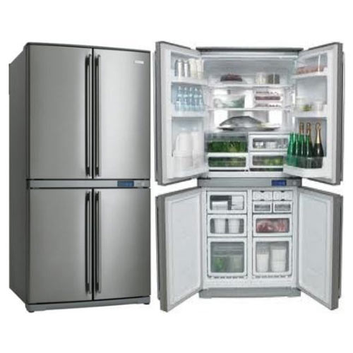 Frigidaire FQE6807SAE 220 Volt 240 Volt 50 Hz 24 Cu Ft 4 Door Bottom Mount Stainless Steel Refrigerator