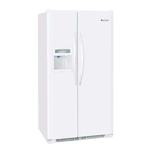 Frigidaire GLSE25V8GW 220 Volt 240 Volt 22.6 Cu Ft White Side By Side Refrigerator