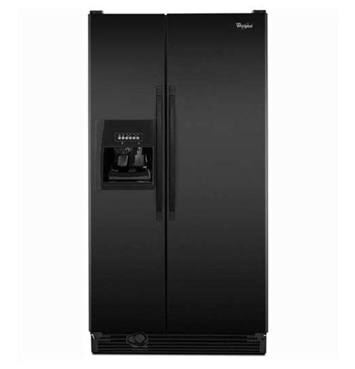 Frigidaire GLSE28V9GB 220 Volt 240 Volt 26 Cu Ft Black Side By Side Refrigerator