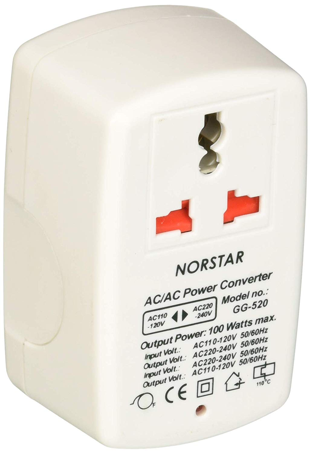 Norstar WGG520 - 100 Watt Step Up and Step Down Voltage Converter New Compact Design