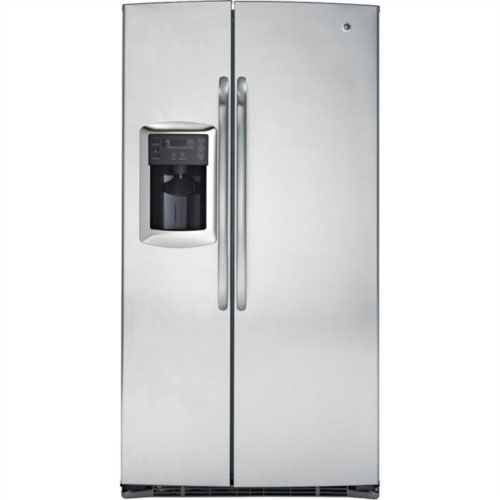 GE 220-240 Volt 50 Hertz 25 cu. Ft. side/side Stainless Steel Grey Color Refrigerator GSE25MGYC SS