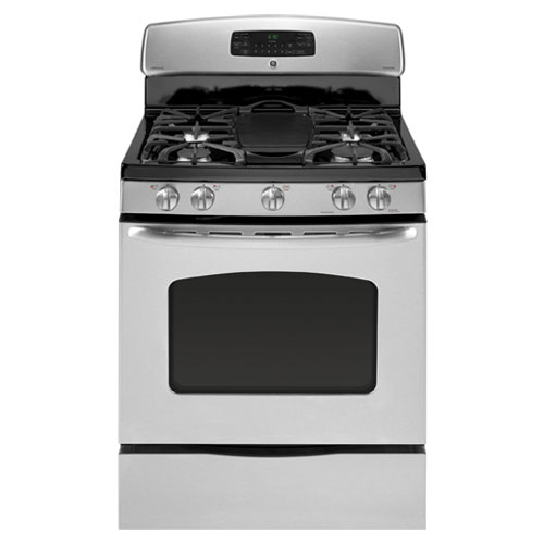 GE JGB300SEP SS 220-240 Volt 50 Hz 5.0 cu ft Oven Capacity Gas Range