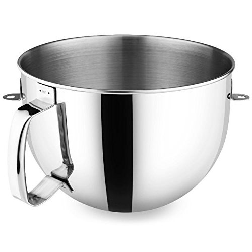 KitchenAid KN2B6PEH 6-Qt. Bowl-Lift Polished Stainless Steel Bowl with Comfort Handle