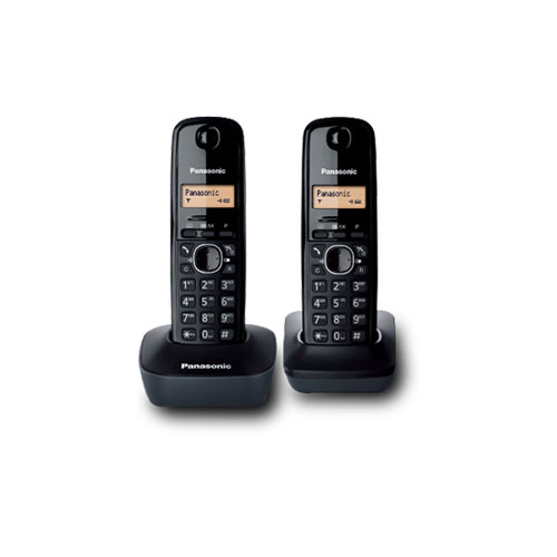 Panasonic KX-TG1612  220-240 Volt 50 Hz Cordless Phone - 2 Handset Cordless Phone - Clear Sound - 170 hour Stand by - To use Outside North America.