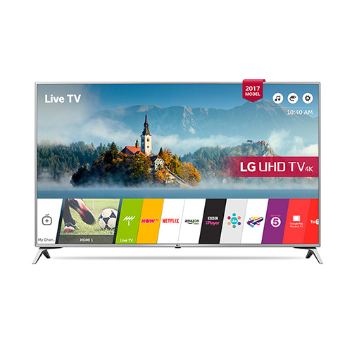 "LG 49UJ651 49"" Multi System 4K UHD SMART LED TV - 110-240 Volt 50/60 Hz"