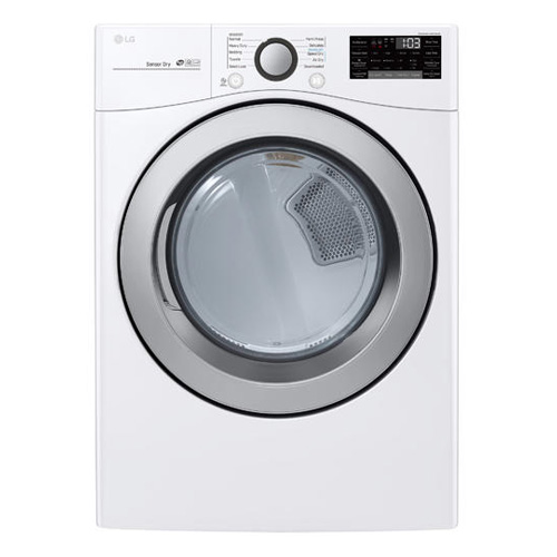 LG DLE3500W 7.4 Cu Ft 10 Cycle SMART Wi Fi Electric Dryer - White - Refurbished Version