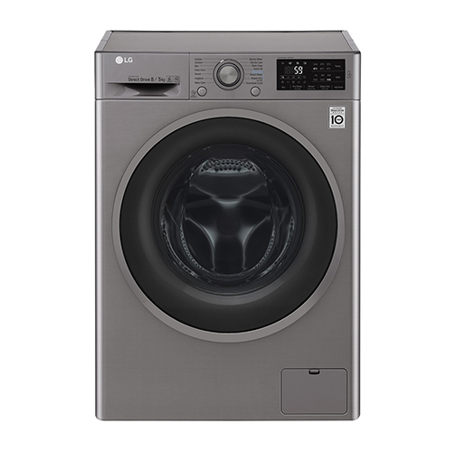 LG F4J6TMP8S 8K Washer / 5 Kg Dryer - Washer Dryer Combo with SMART Diagnosis Technology - 220-240 Volt 50 Hz - To Use Outside North America