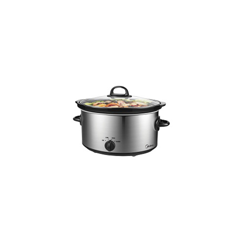 Midea 6 Quart 220-240 Volt 50 Hz Stainless steel finish Slow Cooker