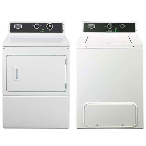 Maytag MVW18MNBGW & MDE18MNAGW 220 Volt 240 Volt 50 Hz Commercial Washer and Dryer Set