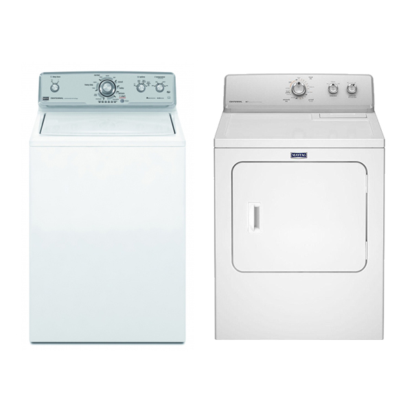 Maytag MVWC400YW & MEDC415FW 220 Volt 240 Volt 50 Hz Washer and Dryer Set