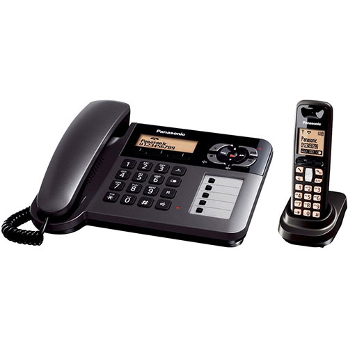 Panasonic KX-TG6458BX 220 Volt 240 Volt 50 Hz Cordless and Coded Phone