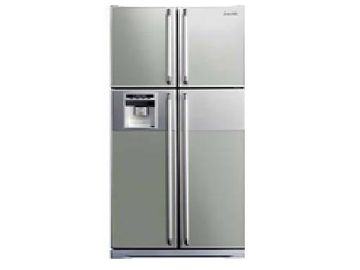 Hitachi 220 240 Volt 50 Hertz 550 Litres 4 Door Stainless Steel Refrigerator R W660ag6