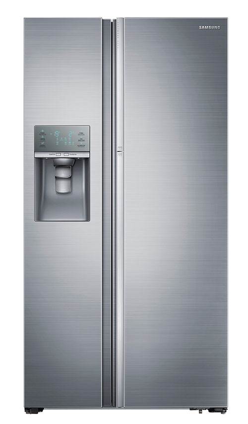 Samsung RH-77H90507F 28cu ft Side by Side 220 Volt 240 Volt 50 Hz Refrigerator with Crushed Ice and Cubed Ice Dispenser