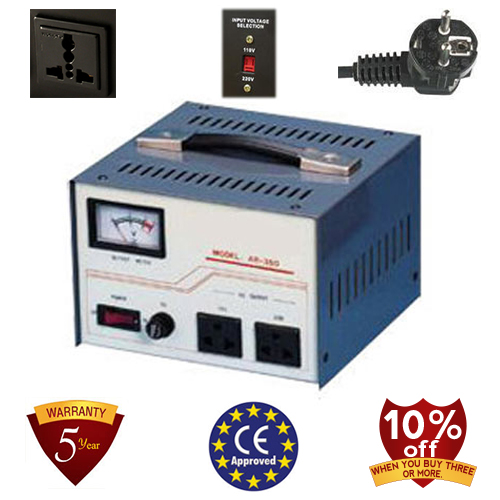 8,000 Watt Step Up/ Down Voltage Converter Transformer, Automatic Voltage Regulator, 5 Year Warranty