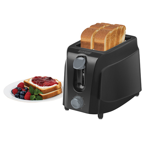 Black & Decker TR200BD 2 Slice Toaster - 220-240 Volt 50 Hz - 750 Watt Poewer - Extra Wide Slots - 6 Level of Toasting - To Use Outside North America