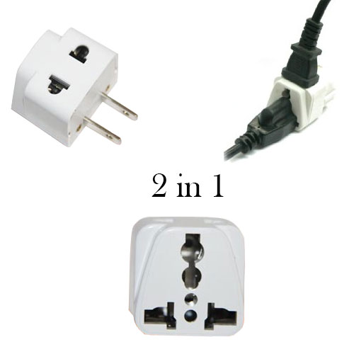WSS710 2 in 1 Universal Plug to use in USA - WSS710