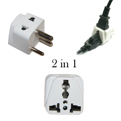Grounded 2 in 1 universal plug to use in India - WSS715