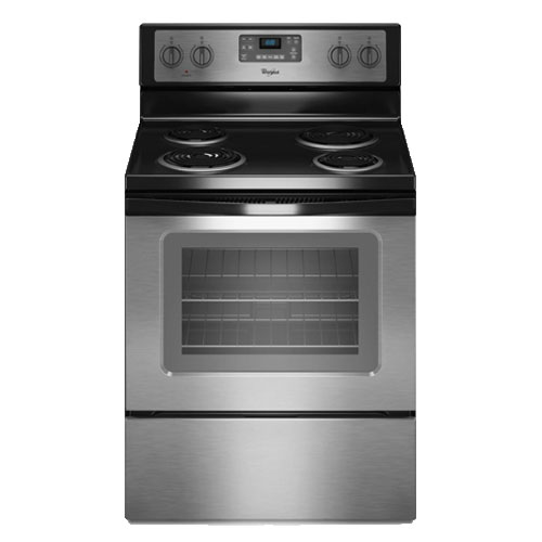 Whirlpool 3WFE320M0AS 220-240 Volt 50 Hertz Stainless Steel Smoothtop Electric Range