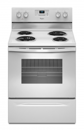 Whirlpool WFC310SOAW 220-240 Volt 50 Hz Electric Self Cleaning Coil Top Range