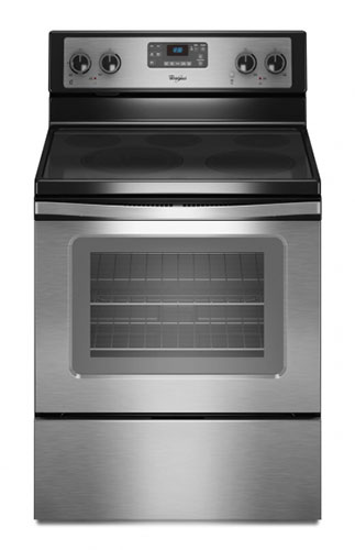 Whirlpool 4KWFE7685ES Stainless Steel Ceramic Glass Self Cleaning Range