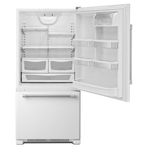 Whirlpool 5GBB1958EW 220-240 Volt 50 Hz 19 Cu. Ft. Bottom Mount Refrigerator