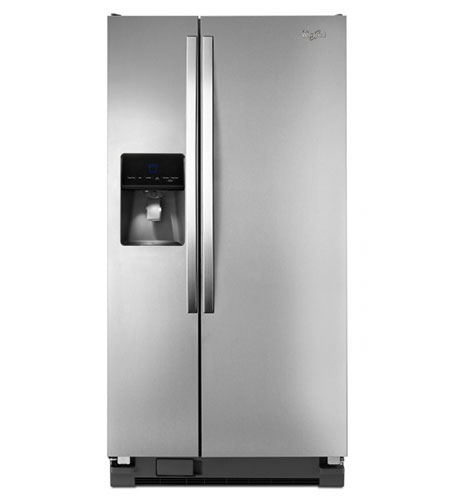 Whirlpool 5WRS22FDBF 220 Volt 50 Hz 23 Cu. Ft. Side By Side Stainless Steel Refrigerator With Dispenser - The Best Seller