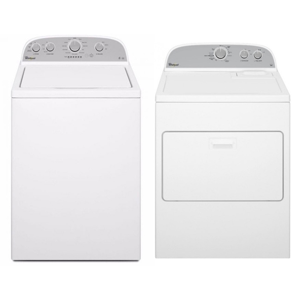 Whirlpool WTW4815FW & WED4830FW 220 Volt 240 Volt 50 Hz Washer and Dryer Set