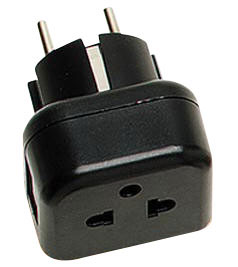 WMVR11 Grounded US/Euro to Grounded Euro (Shucko) Plug Adapter
