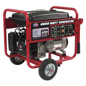 All Power APGG4000 4000 Watt Gasoline Generator with Battery Wheel Kit
