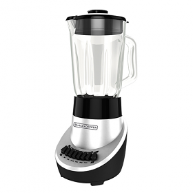Black & Decker BL1130 High Quality Power Full Blender - 220-240 Volt 50 Hz - 550 Watt of Power - Fusion Blade - Stainless Steel Blades - Silver Color - Glass Jug - To Use Outside North America