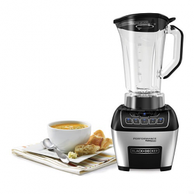 Black & Decker BL6010 Powerfull high efficiency Blender - 220-240 Volt 50 Hz - 1100 Watt of Power - Stainless Steel Fusion Blade - Five Speed Blender - To Use Outside North America