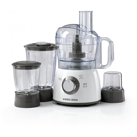 Black and Decker FX400BMG 400W Food Processor with Blender, Mincer & Grinder - 7 Aceessories - 2 Speed With Pulse - 220-240 volt 50 Hz