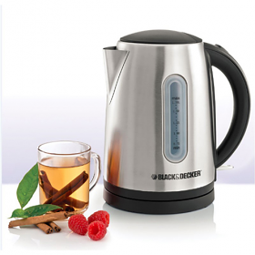 Black and Decker JC400 Concealed Coil Jug 220-240 Volt 50 Hz Kettle - 2200 Watt Power - Cordless - 220-240 Volt 50 Hz