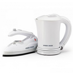 Black and Decker TK200 Iron/Kettle Travel Kit - 220 Volt 240 Volt 50 Hz