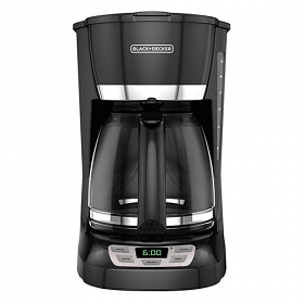 Black & Decker CM1105B Coffee Maker - 220 Volt 240 Volt 50 Hz - Quick Touch Programming - Duralife Glass Carafe - To Use Outside North America