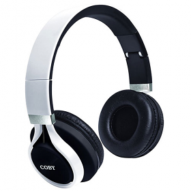 Coby CHBT-612 Force Folding Bluetooth® Headphones with Built-In Mic