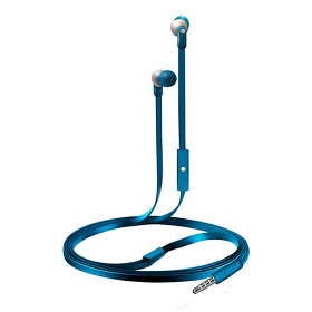 Coby CVE-110 Tangle-Free Flat Cable Stereo Earbuds with Mic