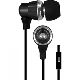 Coby CVE-128 Tangle-Free Flat Cable Metal Stereo Earbuds