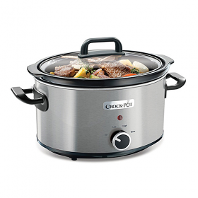CrockPot CSC025 220-240 Volt 50 Hz 3.5 Liter Brushed Stainless Steel Slow Cooker