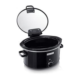 CrockPot CSC031 220-240 Volt 50 Hz 5.6 Liter Hinge Lid Slow Cooker