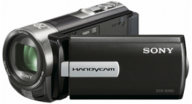 Sony DCR-SX65E-B PAL Compact Camcorder With 60X Optical Zoom Black